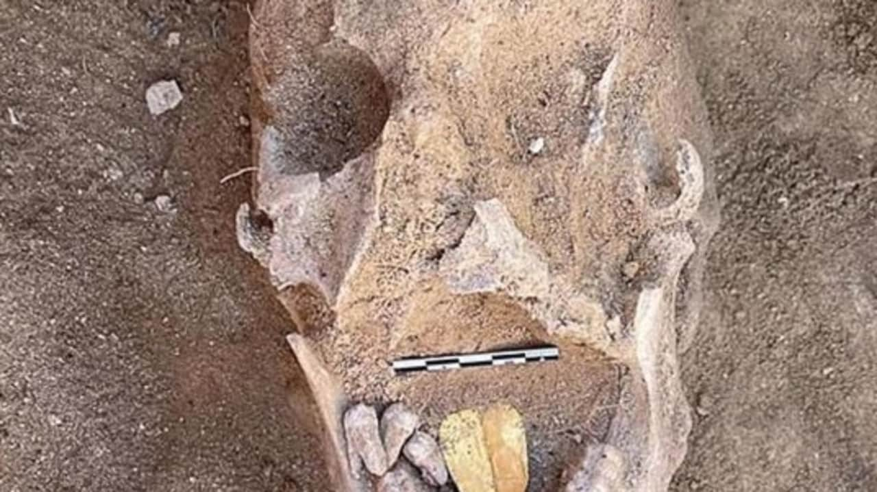 Ancient Egypt mummy found buried with golden tongue for Osiris
