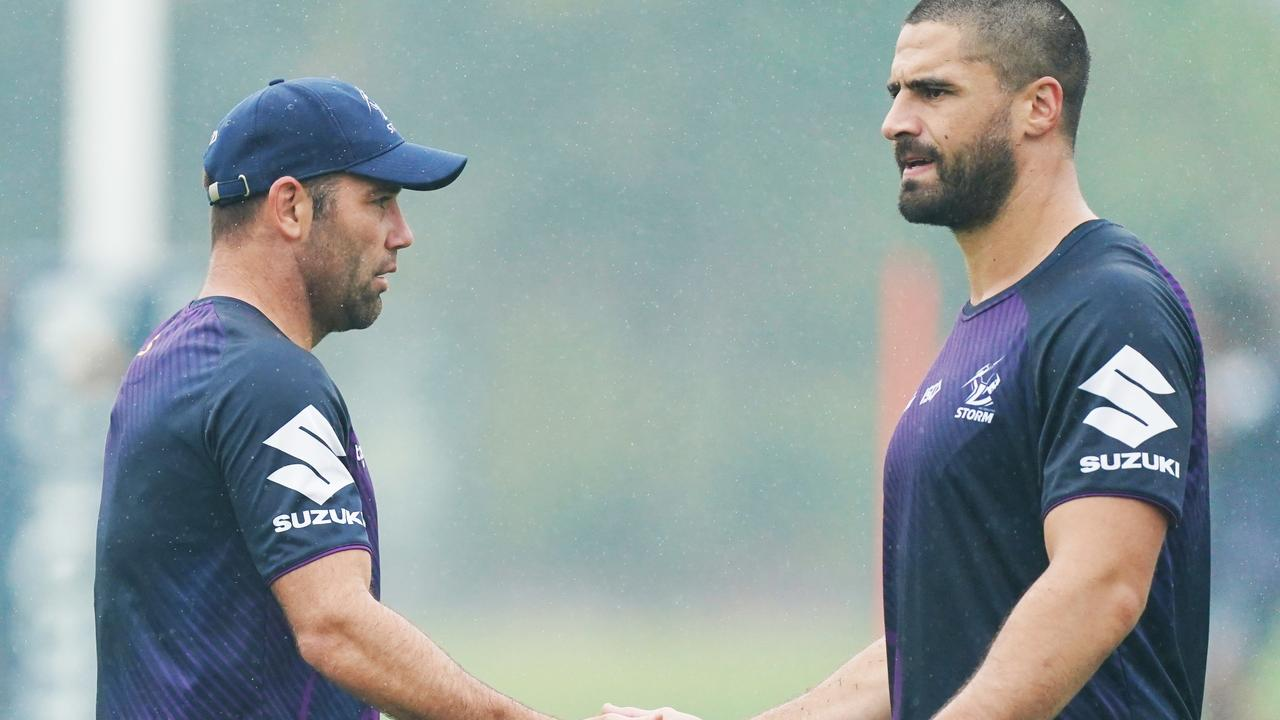 Jesse Bromwich and Dale Finucane will replace Cameron Smith as captain at the NRL premiers
