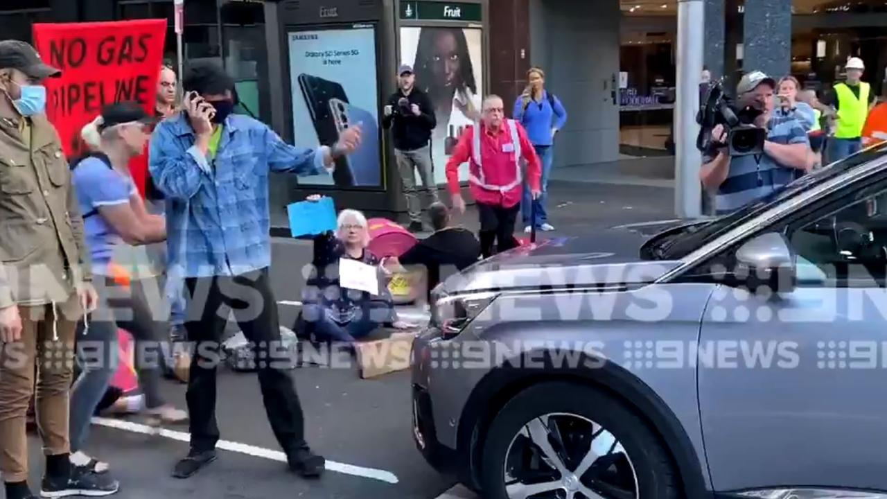 Extinction Rebellion protesters in Sydney deal with furious driver