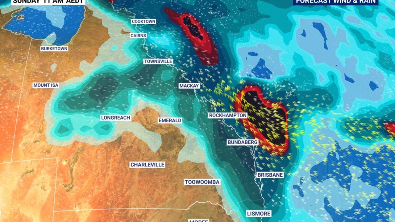 Possible cyclone and rain but blue skis for south