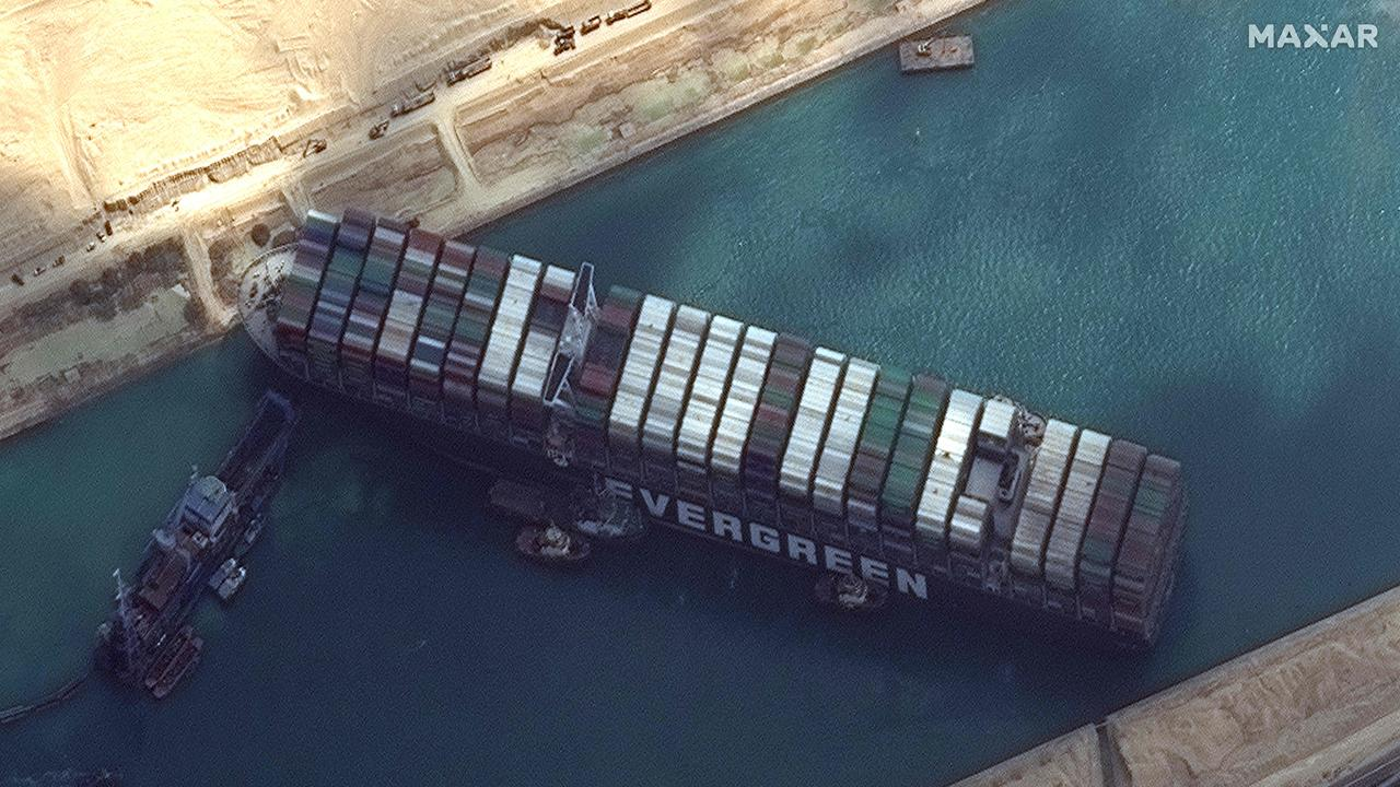 Suez Canal blockage could lead to global shortages of oil, coffee if Ever Given stays stuck