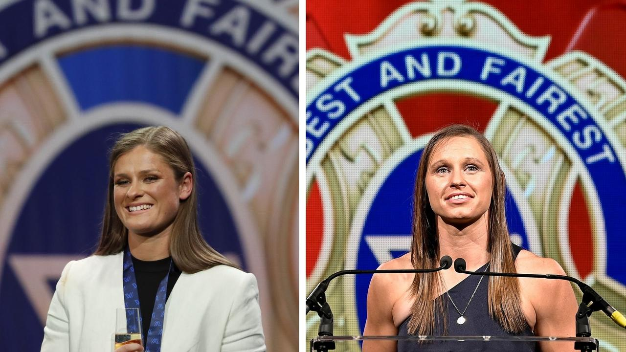 Collingwood's Brianna Davey and Dockers' Kiara Bowers win, best and fairest, W Awards, All Australian